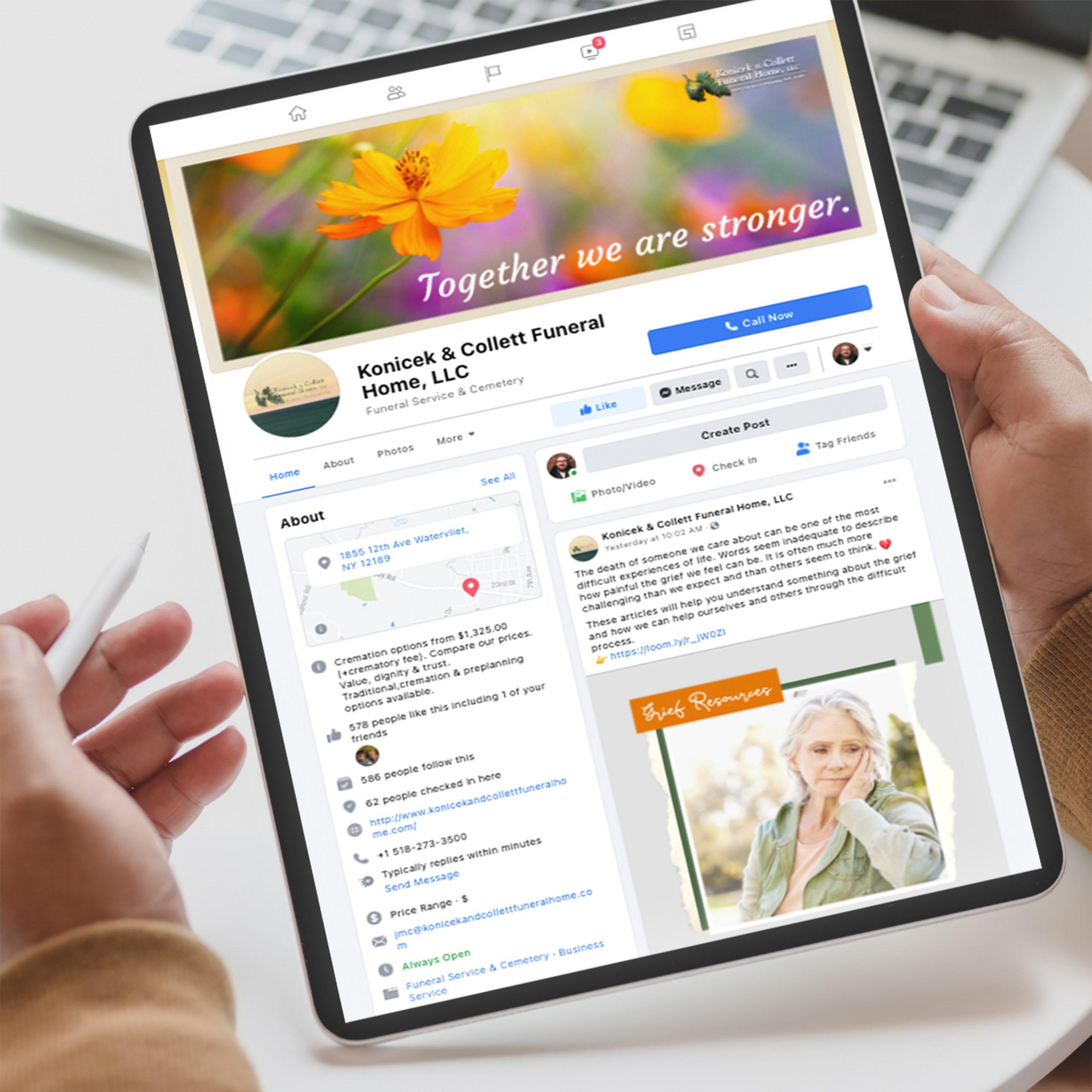 Konicek & Collett Funeral Home - Facebook Marketing